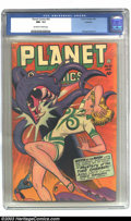 Golden Age (1938-1955):Science Fiction, Planet Comics #52 Rockford pedigree (Fiction House, 1948) CGC NM-9.2 Off-white to white pages. All right, we admit it; our ...