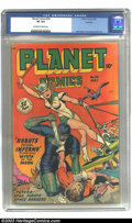 Golden Age (1938-1955):Science Fiction, Planet Comics #54 Rockford pedigree (Fiction House, 1948) CGC VF8.0 Off-white to white pages. Just two copies of this issue...