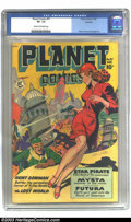 Golden Age (1938-1955):Science Fiction, Planet Comics #57 Rockford pedigree (Fiction House, 1948) CGC VF-7.5 Cream to off-white pages. This solid copy appears to h...