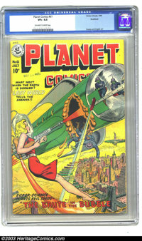 Planet Comics #61 Rockford pedigree (Fiction House, 1949) CGC VF+ 8.5 Off-white to white pages. This cover is a clean sw...