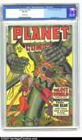 Golden Age (1938-1955):Science Fiction, Planet Comics #64 (Fiction House, 1950) CGC VF 8.0 Off-white pages.This beautiful copy is the second highest on CGC's censu...