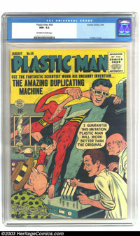 Plastic Man #58 (Quality, 1956) CGC NM- 9.2 Off-white to white pages. From the twilight of Plastic Man's run as a Qualit...
