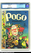 Golden Age (1938-1955):Funny Animal, Pogo Possum #1 (Dell, 1949) CGC NM- 9.2 Off-white to white pages.The only artist around that could rival Carl Barks for del...