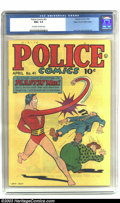 Golden Age (1938-1955):Science Fiction, Police Comics #41 Mile High pedigree (Quality, 1945) CGC NM+ 9.6Off-white to white pages. When one thinks about the incredi...