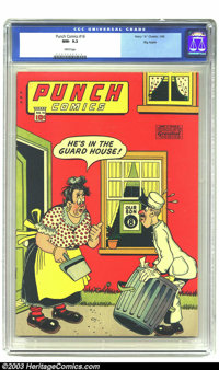 Punch Comics #16 Big Apple pedigree (Chesler, 1946) CGC NM- 9.2 White pages. Chesler books are finally getting the recog...