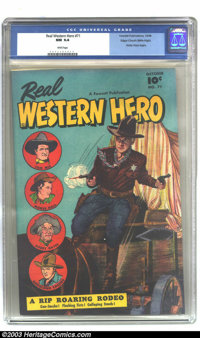 Real Western Hero #71 Mile High pedigree (Fawcett, 1948) CGC NM 9.4 White pages. This second issue of the new title, fol...