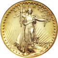 High Relief Double Eagles, 1907 $20 High Relief, Wire Rim--Cleaned--ANACS. Genuine. ...