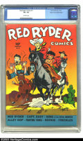 Golden Age (1938-1955):Western, Red Ryder Comics #11 Mile High pedigree (Dell, 1943) CGC VF+ 8.5 Off-white pages. Looking for a typically sparkling Mile Hig...