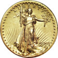 High Relief Double Eagles, 1907 $20 High Relief, Wire Rim--Cleaned--ANACS. AU58 Details....