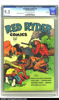 Red Ryder Comics #19 File Copy (Dell, 1944) CGC NM- 9.2 Cream to off-white pages. For an issue dating back to 1944, and...