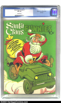 Santa Claus Funnies #1 Mile High pedigree (Dell, 1952) CGC FN 6.0 Off-white pages. Dell Giant. Overstreet 2002 FN 6.0 va...
