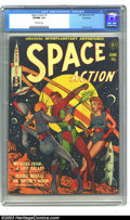 Golden Age (1938-1955):Science Fiction, Space Action #1 Bethlehem pedigree (Ace, 1952) CGC VF/NM 9.0Off-white pages. One of the most unheralded artists of the fift...