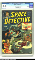 Golden Age (1938-1955):Science Fiction, Space Detective #1 Bethlehem pedigree (Avon, 1951) CGC VF 8.0 Creamto off-white pages. This book contains everything that i...