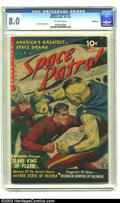 Golden Age (1938-1955):Science Fiction, Space Patrol #2 Bethlehem pedigree (Ziff-Davis, 1952) CGC VF 8.0Off-white pages. Ziff-Davis managed to get a monopoly on on...