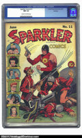 Golden Age (1938-1955):Superhero, Sparkler Comics #11 Rockford pedigree (United Features Syndicate, 1942) CGC NM 9.4 Cream to off-white pages. Japanese war co...