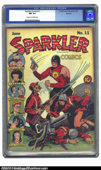 Sparkler Comics #11 Rockford pedigree (United Features Syndicate, 1942) CGC NM 9.4 Cream to off-white pages. Japanese wa...