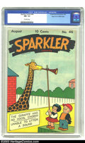 Golden Age (1938-1955):Cartoon Character, Sparkler Comics #46 Mile High pedigree (United Features Syndicate, 1945) CGC NM- 9.2 Off-white pages. Nancy and Sluggo are u...