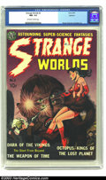 Golden Age (1938-1955):Science Fiction, Strange Worlds #2 Spokane pedigree (Avon, 1951) CGC NM- 9.2Off-white to white pages. CGC has graded only seven issues of th...