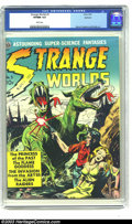 Golden Age (1938-1955):Science Fiction, Strange Worlds #3 Spokane pedigree (Avon, 1951) CGC VF/NM 9.0 Whitepages. This is the key issue of the run and the artist j...