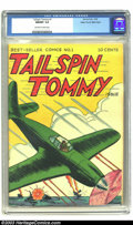 Golden Age (1938-1955):War, Tailspin Tommy #1 Mile High pedigree (Service Publications, 1946)CGC NM/MT 9.8 Off-white to white pages. This uncommon and ...