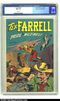 Golden Age (1938-1955):Western, Tex Farrell #1 Mile High pedigree (D.S. Publishing, 1948) CGC NM+9.6 White pages. This obscure one-shot western title may n...