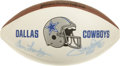 Football Collectibles:Balls, Dallas Cowboys Hall of Famers Signed Football with Staubach, Dorsett and Landry. Three of the most revered figures in the h...