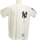 Autographs:Jerseys, Yogi Berra Signed Jersey. Exceptional replica jersey from the Cooperstown Collection brings us a fine shirt fashioned after...