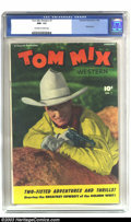 "Golden Age (1938-1955):Western, Tom Mix Western #1 (Fawcett, 1948) CGC NM- 9.2 Off-white to whitepages. This premiere issue promises ""Two-Fisted Adventure ..."