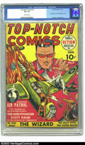 Golden Age (1938-1955):War, Top-Notch Comics #2 (MLJ, 1940) CGC VF+ 8.5 Off-white pages. One of the earliest offerings by MLJ, the publisher that would ...