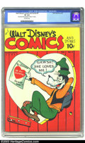 Golden Age (1938-1955):Cartoon Character, Walt Disney's Comics and Stories #5 (Dell, 1941) CGC VF 8.0Off-white pages. Seeing as this is the first copy of this book t...