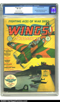 Wings Comics #1 (Fiction House, 1940) CGC VF+ 8.5 Cream to off-white pages. Fiction House created many classic titles th...