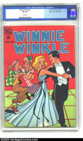Golden Age (1938-1955):Cartoon Character, Winnie Winkle #1 Mile High pedigree (Dell, 1948) CGC VF 8.0 Whitepages. A pair of enthusiastic kids steal some of Winnie's ...
