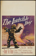 "Movie Posters:Science Fiction, The Invisible Boy (MGM, 1957). Window Card (14"" X 22""). Science Fiction...."