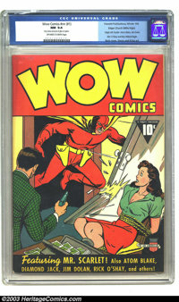 Wow Comics #nn (#1) Mile High pedigree (Fawcett, 1940) CGC NM 9.4 Off-white to white pages. Wow is the word here! Expect...