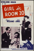 "Movie Posters:Black Films, The Girl in Room 20 (Astor Pictures, 1946). One Sheet (28"" X 42""). Black Films...."