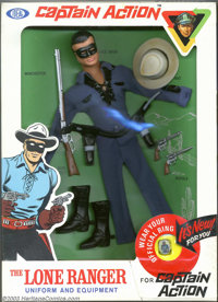 Captain Action Lone Ranger Uniform Set, Blue Shirt (Ideal, 1966). This is an absolutely amazing blue, third-issue Lone R...