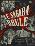 "Movie Posters:Adventure, Le Sahara Brule (Lux Film, 1961). French Petite (20"" X 27"").Adventure...."