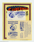 """Golden Age (1938-1955):Superhero, Supermen of America Club Kit and rare Subscription Forms (DC, 1961-64). Up, up and away... First up we have a partial """"Super..."""