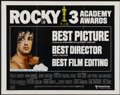 "Movie Posters:Sports, Rocky (United Artists, 1977). Half Sheet (22"" X 28"") Academy Awards Style. Sports...."