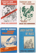Books:First Editions, Edgar Rice Burroughs. Four First Edition Novels, including:Savage Pellucidar; Tarzan and the Madman; ... (Total:4 Items)
