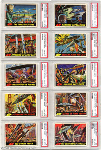 Mars Attacks Trading Cards - Complete Set (Topps, 1962) Condition: PSA 8. The immensely popular Mars Attacks bubble gum...