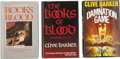 Books:First Editions, Clive Barker. Three First Edition Books, One Signed by Barker,...(Total: 3 Items)