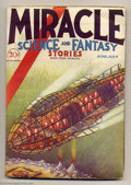 Pulps:Science Fiction, Miracle Science and Fantasy Stories #2 (Harold Hersey, June 1931)Condition: GD- (Brittle). This pulp is noted as being scar...