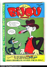 Bijou Funnies #1 First Printing (Print Mint, 1968) Condition: VF-. Featuring the work of Skip Williamson, Robert Crumb...