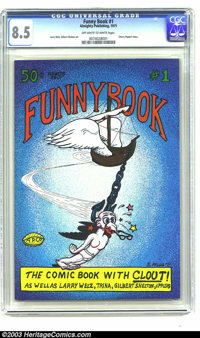 Funny Book #1 - First Printing (Almighty Publishing, 1971) CGC VF+ 8.5 Off-white to white pages. The first appearance of...