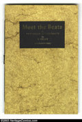 Modern Age (1980-Present):Alternative/Underground, Meet the Beats #nn, Number 51 of 100 (Water Row Press, 1985) Condition: NM. Hand-made and hand-printed, the inside pages of ...