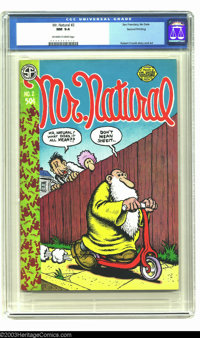 Mr. Natural #2, Second Printing (Apex Novelties, 1971) CGC NM 9.4 Off-white to white pages. One of the nicer copies of t...