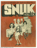 Bronze Age (1970-1979):Alternative/Underground, Snuk Comix #1 Wilderness Road And Flippy Skippy (Skip Williamson, 1970). When the printer wasn't paid for this comic, he pul...