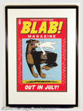Silver Age (1956-1969):Alternative/Underground, Blab! Magazine Promo Poster - Underground Memorabilia. Thisattractive poster was used to announce the publication of Blab! ...