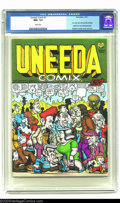 Modern Age (1980-Present):Alternative/Underground, Uneeda Comix #1 (Print Mint, 1971) CGC NM+ 9.6 White pages. With aRobert Crumb cover and art, this is an all-Crumb publicat...